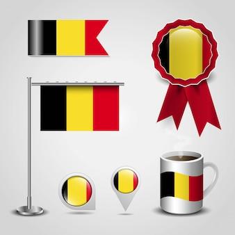 Belgien fahne design
