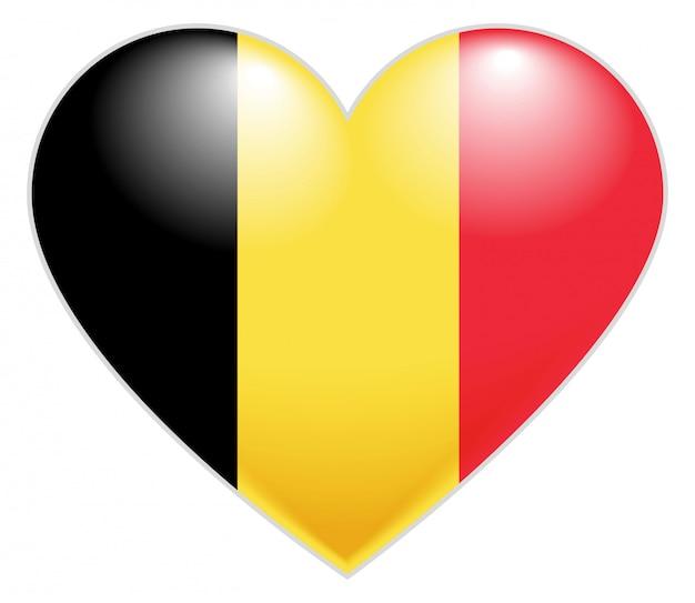 Belgien flagge herz. belgische flaggenikone in form des herzens