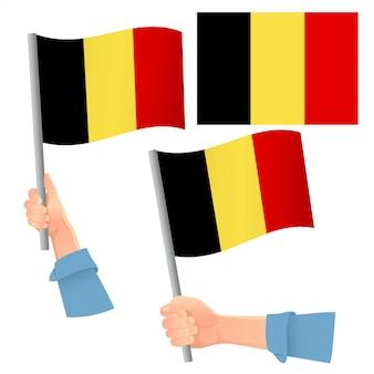 Belgien flagge im handset