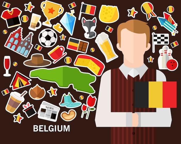 Belgien konzept hintergrund