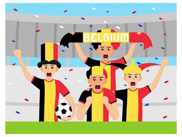 Belgien unterstützer in flachem design