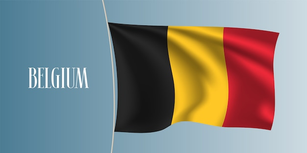 Belgien winkende flaggenillustration