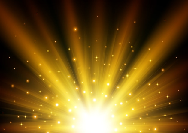 Belichteter goldener heller hintergrund
