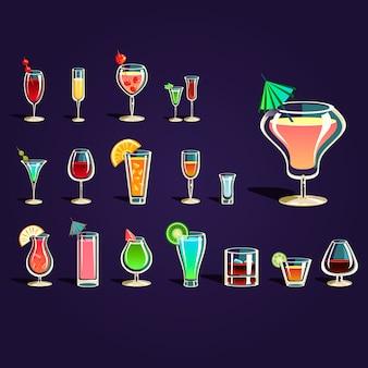 Beliebte alkoholische cocktails