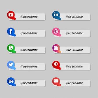 Beliebte social-media-informationen in einfacher form