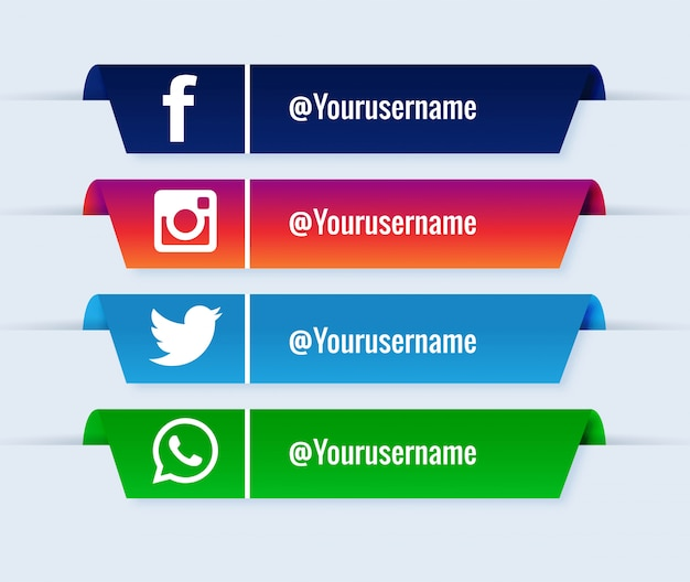 Beliebter sammlungssatz der unteren drittel der sozialen medien