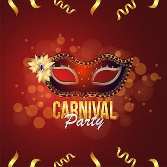 Beliebtes ereignis im hintergrund der karnevalsparty in brasilien