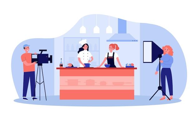 Beliebtes kochshow-konzept