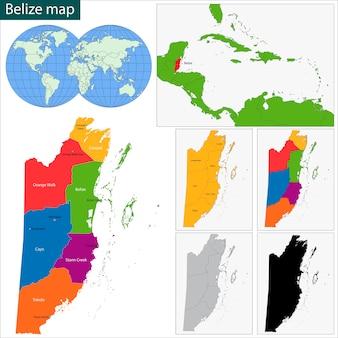 Belize karte