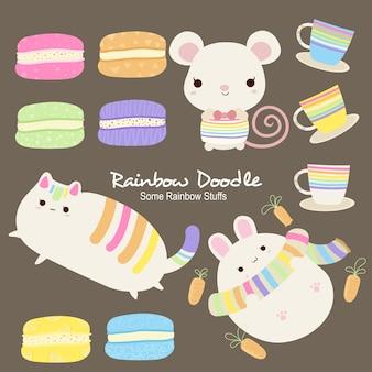 Ben rainbow objekte doodle
