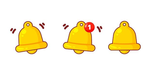 Benachrichtigung goldene glocke symbol cartoon kunst illustration