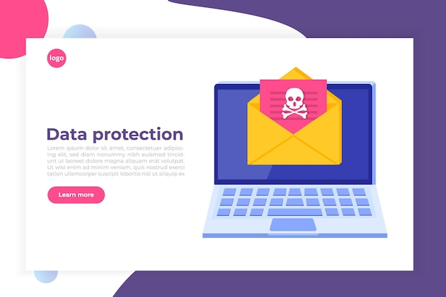 Benachrichtigung oder warnung über malware-trojaner von laptop-viren