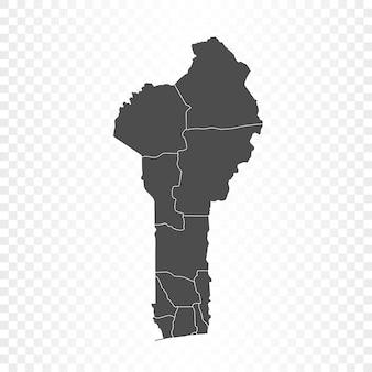 Benin-karte isoliert auf transparent