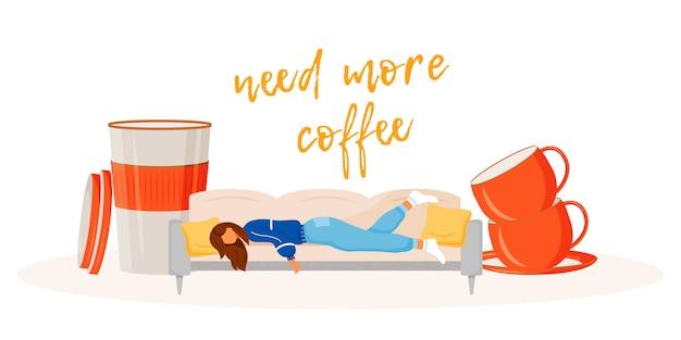 Benötigen sie mehr kaffee illustration