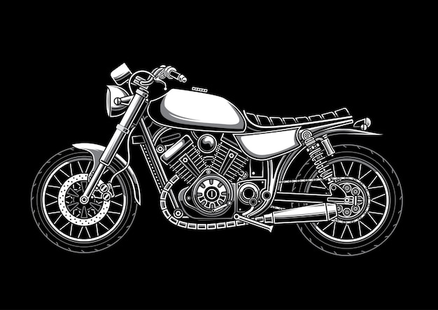 Benutzerdefinierte klassische motorradillustration