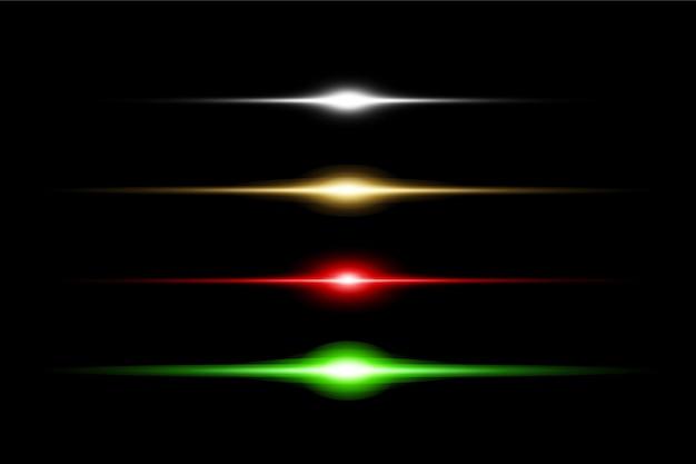 Benutzerdefiniertes farbiges lens flare pack-design
