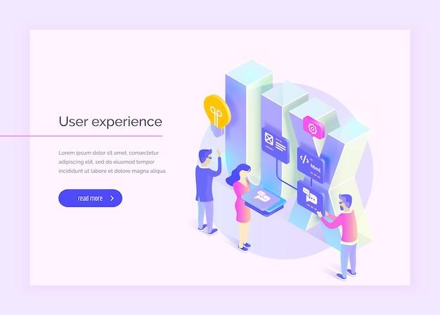 Benutzererfahrung menschen interagieren mit teilen der benutzeroberfläche