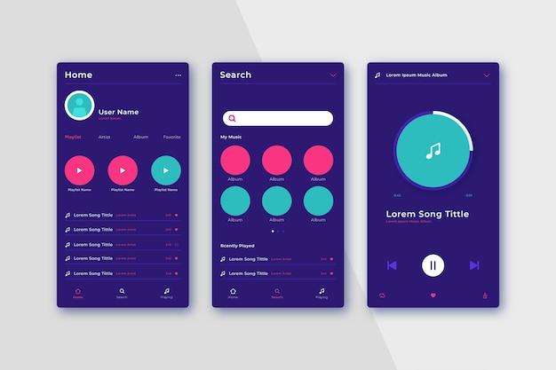 Benutzerfreundliche oberfläche der musik-player-app