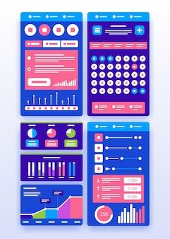 Benutzeroberfläche der benutzeroberfläche. virtuelle technologie. illustration.