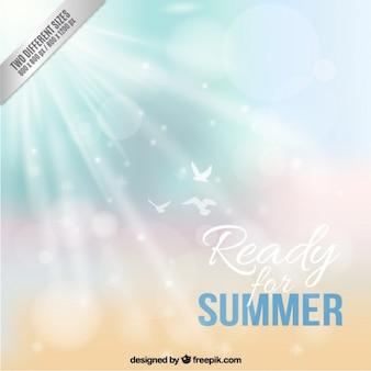Bereit für den sommer hintergrund