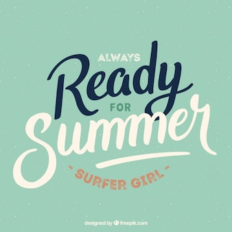 Bereit für den sommer