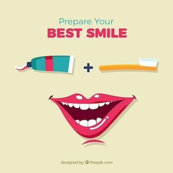 Bereiten sie ihr schönstes lächeln