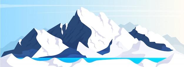 Berg flache farbabbildung