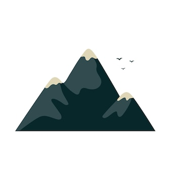 Berg im flachen cartoon-stil