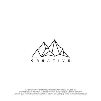 Berg-logo-vektor-design-vorlage