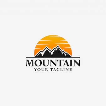 Berg logo vorlage