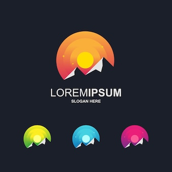 Berg modernes logo