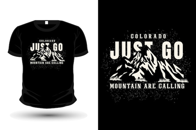 Berg ruft typografie-t-shirt-design an