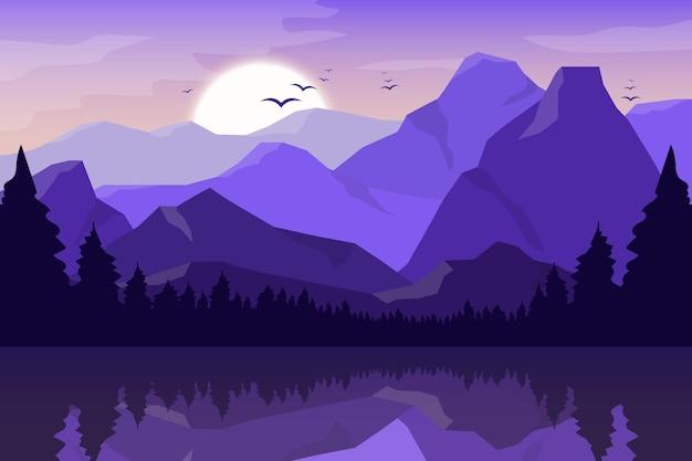 Berg schöne landschaft