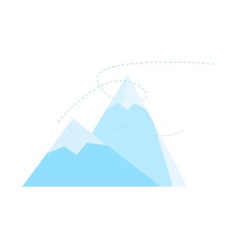 Berg-symbol. berggipfelsymbol. flache vektorillustration lokalisiert auf weißem hintergrund