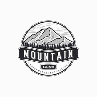 Berg vintage logo illustration