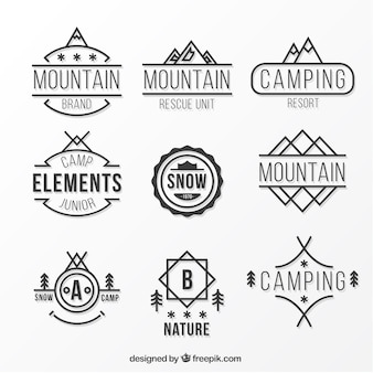 Berg wohnung logo collection