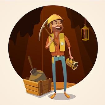 Bergbau konzept abbildung
