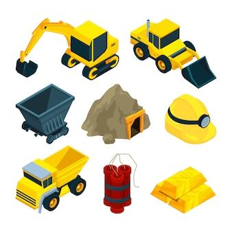 Bergbau mineralien und gold