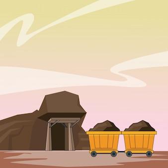 Bergbauhöhlen- und wagenkarren