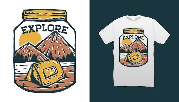 Bergcampingillustration