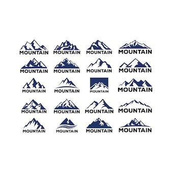 Berge, felsen und gipfel.