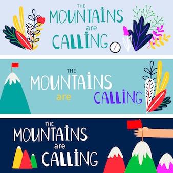Berge rufen s set template auf