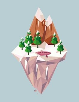 Berge und boot