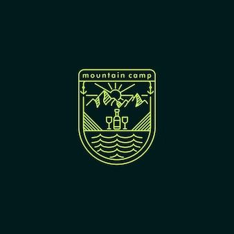 Berglager monoline logo