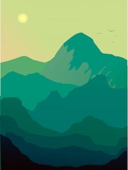 Berglandschaft am morgen