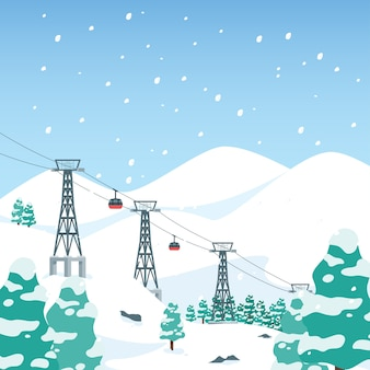 Bergskigebiet winter