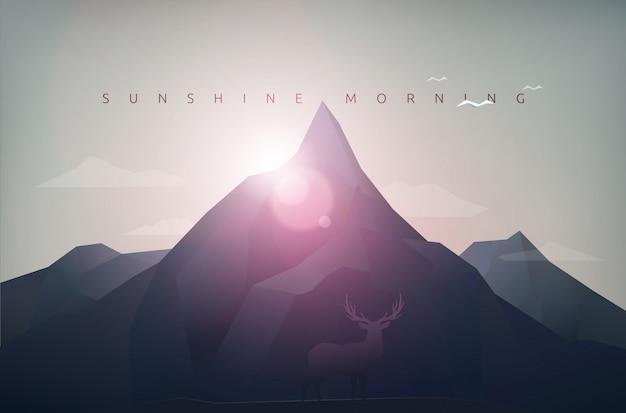 Bergsonnenscheinmorgen