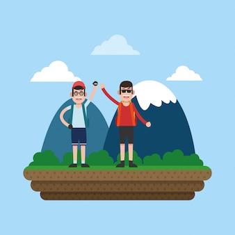 Bergsport-cartoon