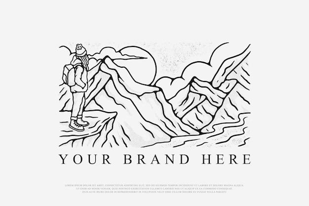 Bergsteigen illustration
