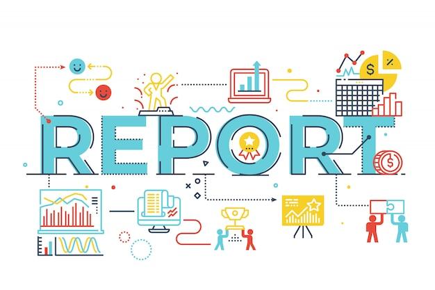Bericht wort beschriftung abbildung